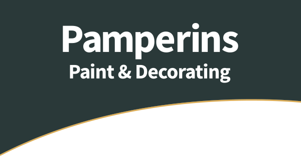 pamperins paint and decorating logo